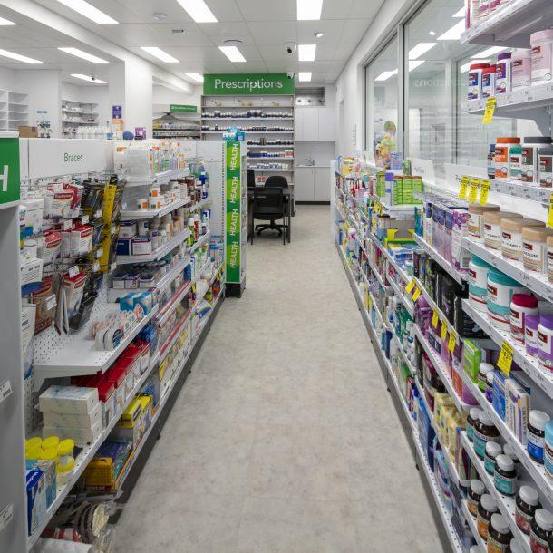 Pharmacy floor plan design